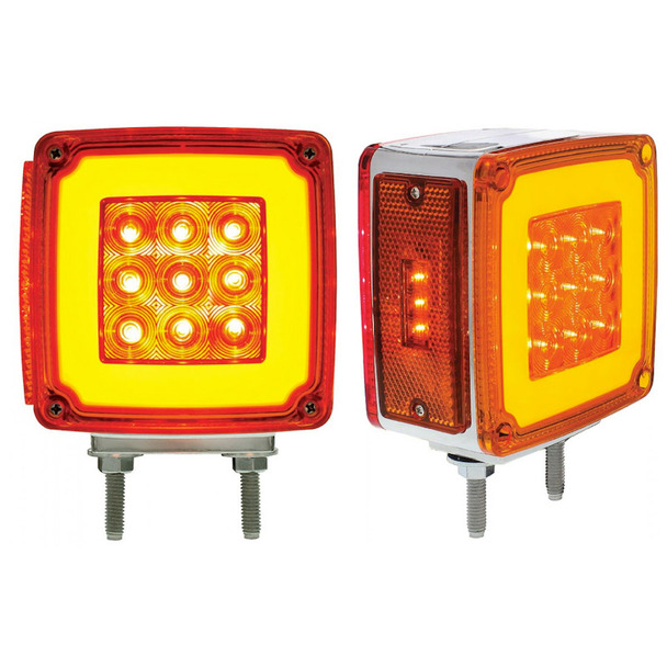 Square Double Face HALO Turn Signal Light With Side LED