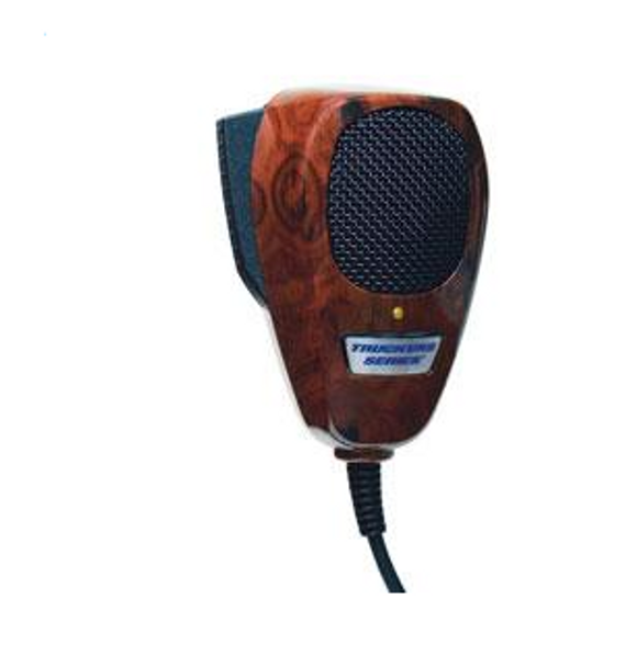 TruckSpec Wood Grain Noise Cancelling CB Microphone