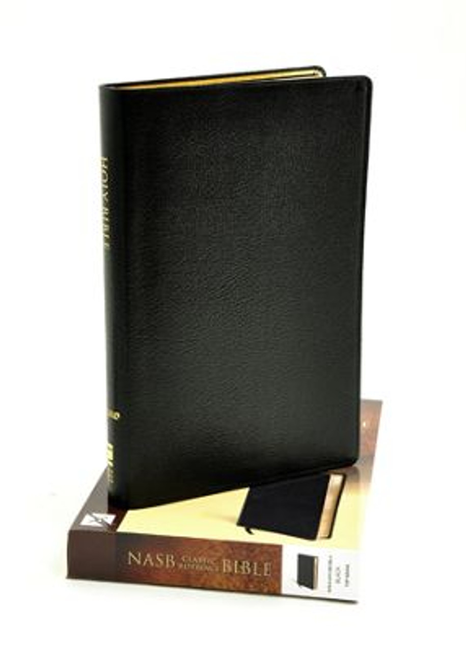 Bible Nasb Classic Reference Edition Black Genuine Leather