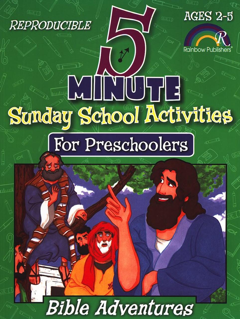 5 Minute Activities for Preschoolers - Bible Adventures (Ages 2-5)