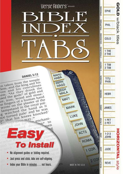 Verse Finders Bible Tabs - Gold-Edged