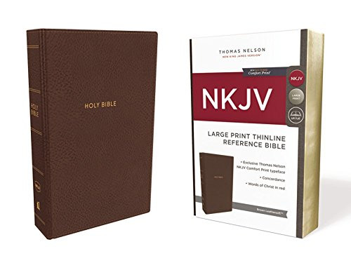 Bible NKJV Thinline Ref LP Premium Leather Black Sterling