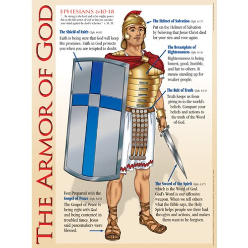 Armor Of God Wall Chart Laminated Cei Bookstore Truth
