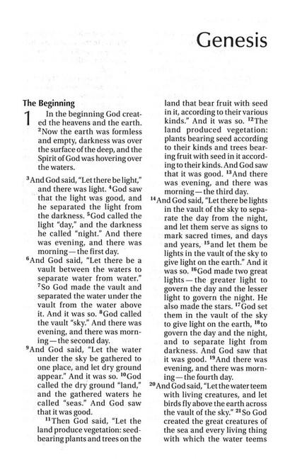 Bible NIV Read Easy Black Leather-Look
