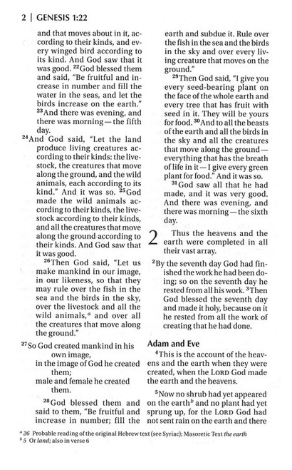 Bible NIV Read Easy Black Leather-Look