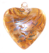 "Large Heart ""Caramel"" Iridized"