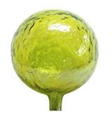 "Glass Gazing Ball ""Lemon Yellow"" 12 Inch Iridized"