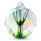 Enigmatic Witch Ball Iridescent Jade Colors