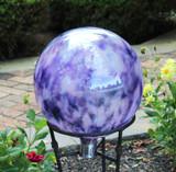 "Garden Gazing Ball ""Hyacinth Pink White"""
