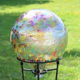 "Glass Gazing Ball ""Multicolor Iridized"" 12 Inch"