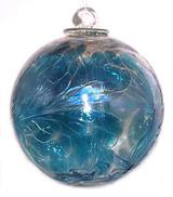 Witch Ball Iridescent Aqua Marine