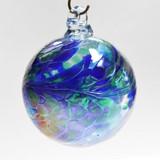 """Cobalt Blue / Moss Green Twist Iridized 2 1/2"""""""