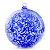 Cobalt Blue Web Design Iridized 4 Inch