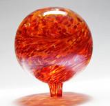 "Glass Gazing Ball ""Dark Sun"" 12 Inch Iridized"