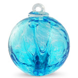 "Small Witch Ball ""Copper Blue"""