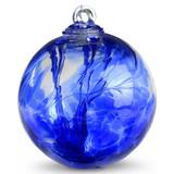 Witch Ball Iridescent Sari Blue