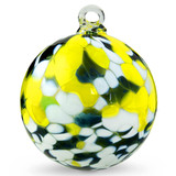 Green, White & Yellow 3 Inch Kugel (Daffodil)