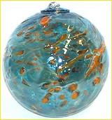 Light Blue & Gold 4 Inch Kugel
