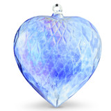 Diamond Optic Extra Large Heart, Sari Blue Iridized