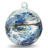 """Friendship Ball """"Iris Blue"""" 4 Inch Kugel"""