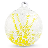 """Veiled Witch Ball """"Canary Yellow"""""""