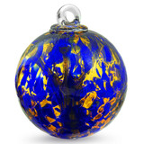 Small Witch Ball Cobalt Blue and Old Gold