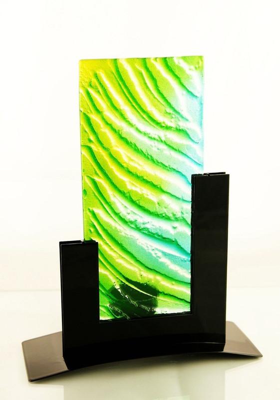 Metro Tealight Candle Holder (Green)
