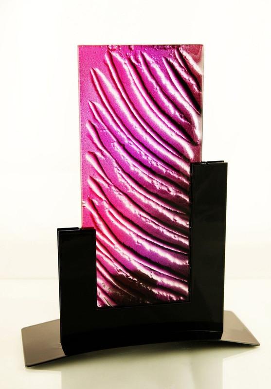 Metro Tealight Candle Holder (Purple)