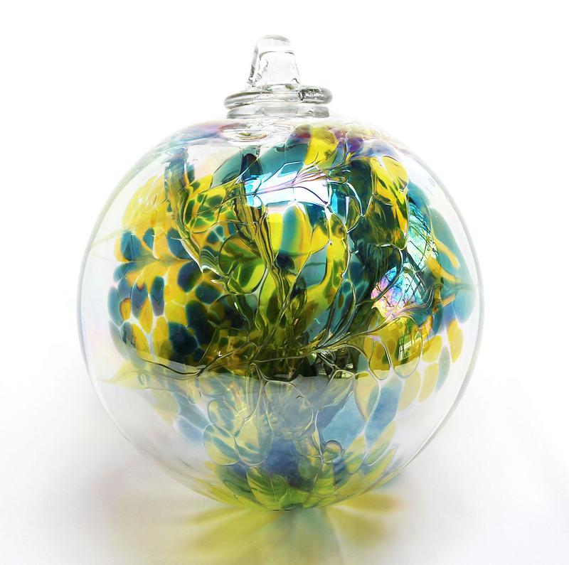 "XL Witch Ball ""Chartreuse"" (Iridized)"