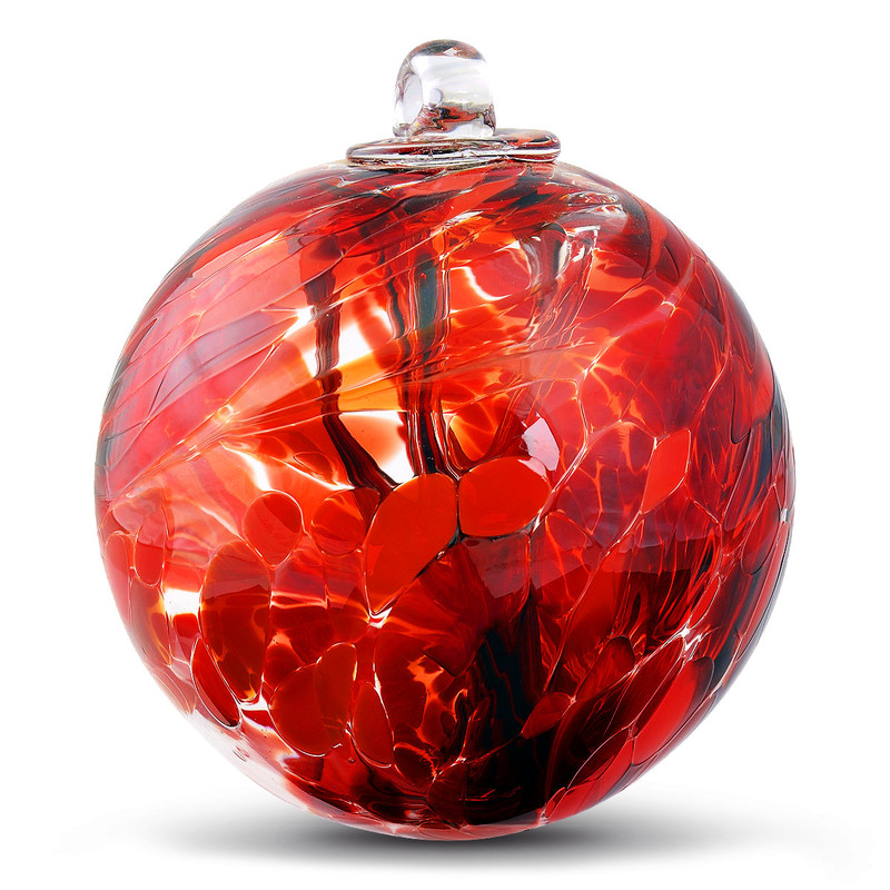"Witch Ball ""Confident Red"""
