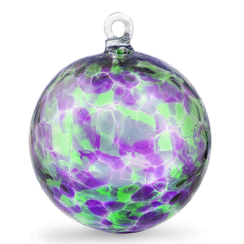 Purple & Green 3 Inch Kugel