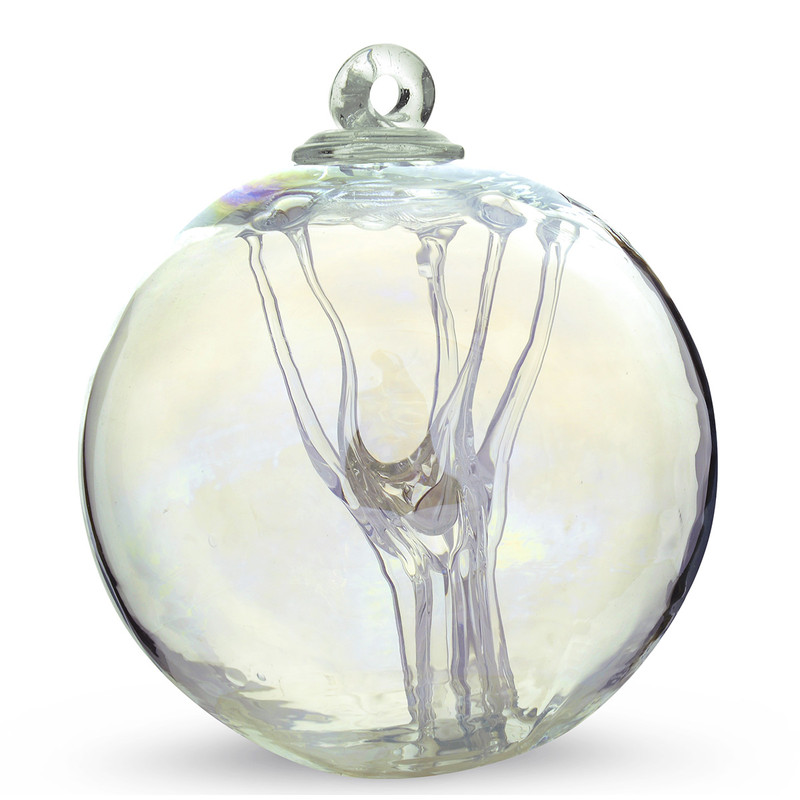 Witch Ball Iridescent Clear