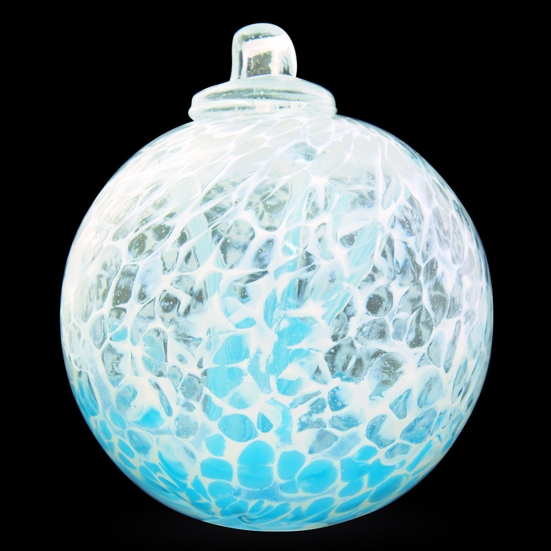"""Veiled Witch Ball """"Water Blue"""""""