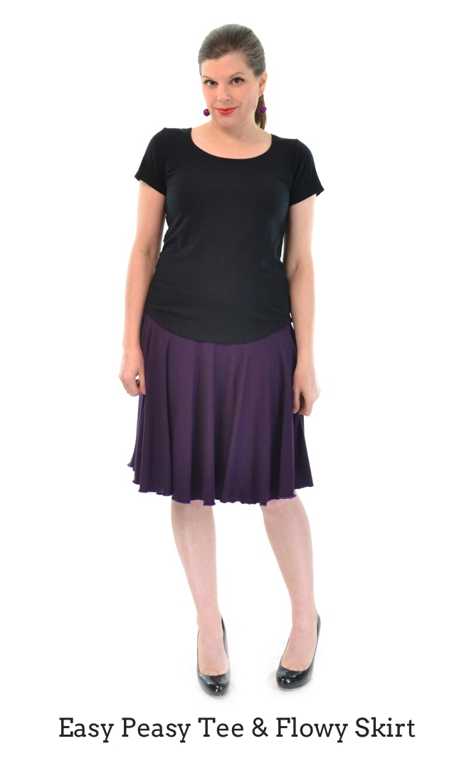Easy Peasy Tee & Column Skirt