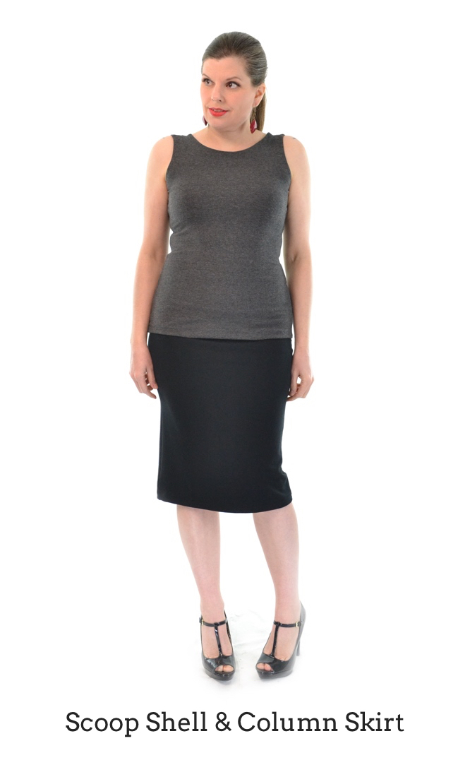 Scoop Shell & Column Skirt