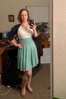Soft Top, Flowy Skirt and Shrug