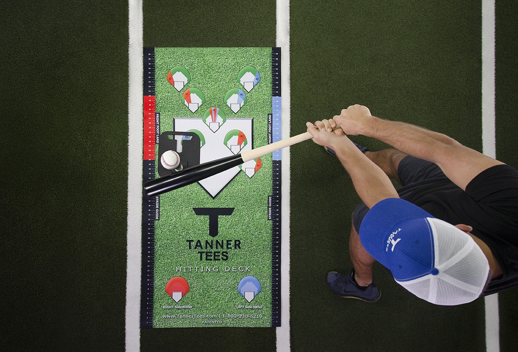 Visual aid showing a batter hitting on the hitting deck off the left field position.