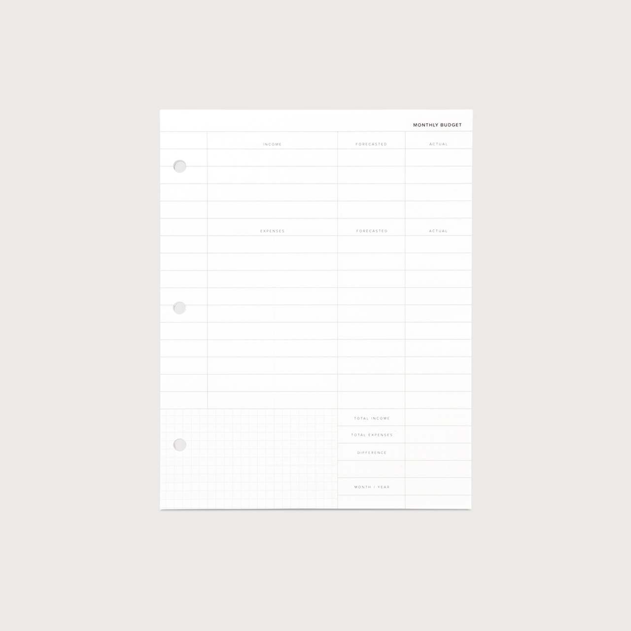 appointed binder planner inserts budget planning 20p