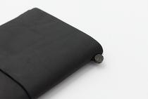 Traveler's Notebook Black Cover and Kit | Regular Size | Black Leather Travelers Notebook