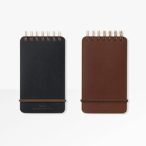 The cover of the Midori Grain A6 Spiral Notepad - lined