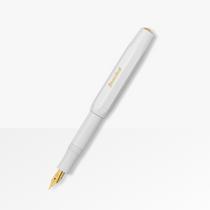 Kaweco Sport Fountain Pen | White Barrel | Gold Plated Nib - Available in Medium Nib & Fine Nib