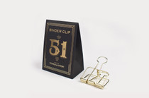 These beautifully formed Golden 51mm Binder Clips are stylish and unique.