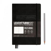 The Leuchtturm1917 Bullet Journal is the Official Notebook of the BUJO community. Shown here in Black.