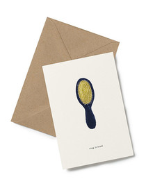 Sing it Loud! Greeting Card from Kartotek Copenhagen, blank interior, comes with envelope