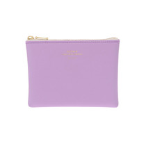The lovely Quitterie Zip Pouch inlight purple. Small and wallet sized, this is a super handy pouch in a stunning spring colour.