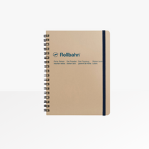 Delfonics Rollbahn Spiral Notebook, Large in Greige