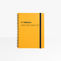 Delfonics Rollbahn A5 Spiral Grid Notebook in Yellow