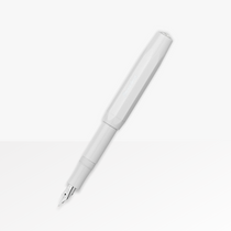 Kaweco Skyline Fountain Pen in White with the cap posted (13.5cm)
