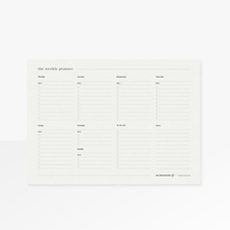The An Organised Life Weekly Desk Planner is the perfect companion to your week.