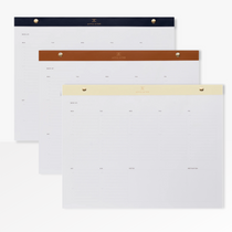 The Appointed Daily and Weekly A4 Desk Planner in three colours - Oxford Blue, Ecru, Cognac